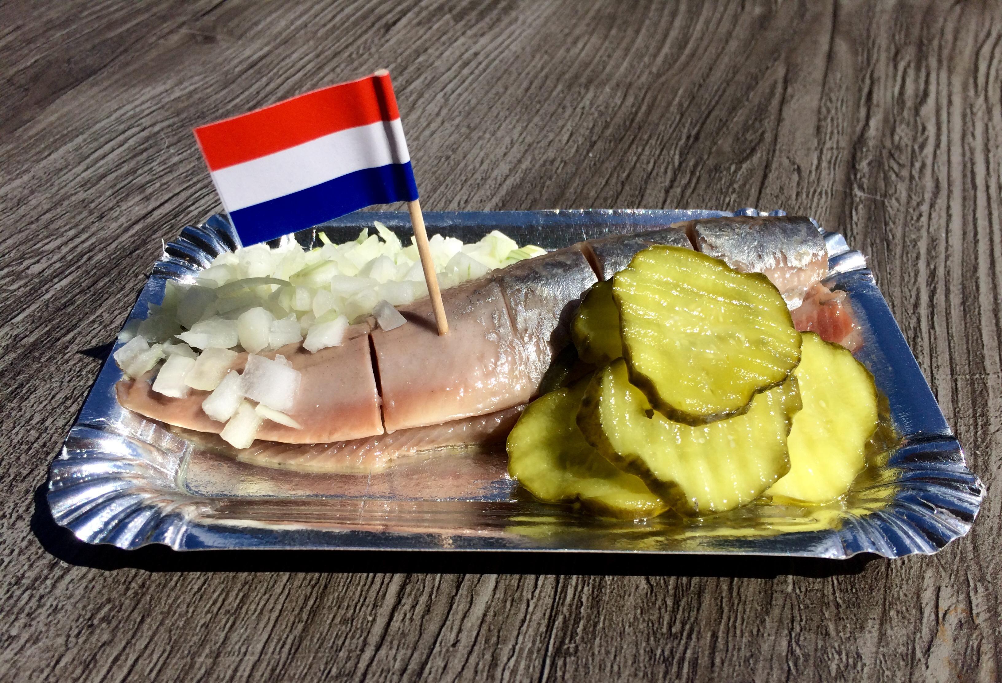 Eating herring (haring) in Amsterdam