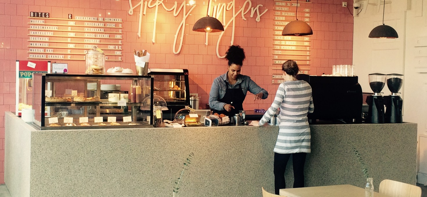 Coffee & cakes at Sticky Fingers