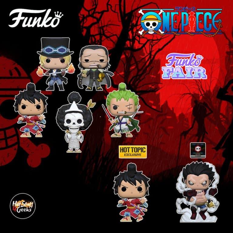 Global freaks, la mejor tienda de figuras anime y manga. New Funko Fair 2021 One Piece Funko Pop Figures Wave 4