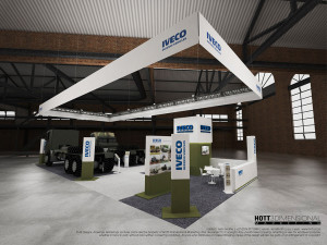 Iveco - AAD 2014 Full Custom Exhibition stand, HOTT3D