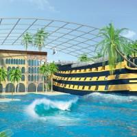 Therme Erding baut Themenhotel im Form eines historischen Segelschiffs