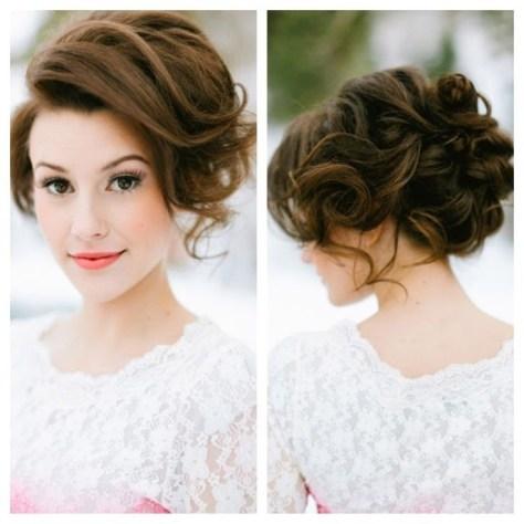 bridesmaid hair and makeup messy updos