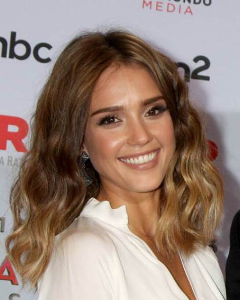 medium-length-centre-parted-haircut-with-ombre