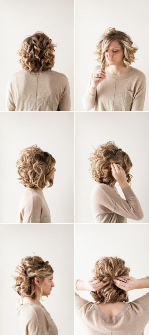 25 Simple And Stunning Updo Hairstyles For Curly Hair - Haircuts ...