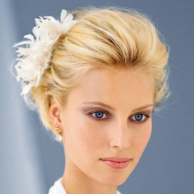 Short Updo With Flowers
