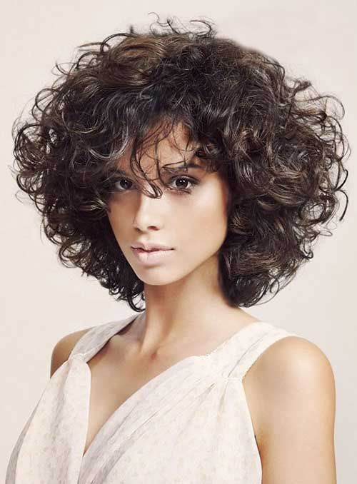 21 Stylish and Glamorous Curly Bob Hairstyle for Women - Haircuts ...