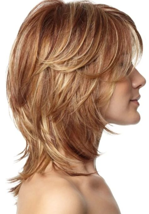Layered Hairstyle for Shoulder Length Hair
