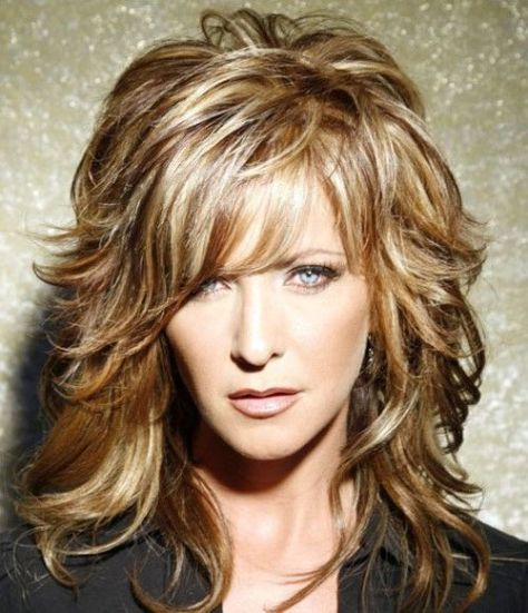 Medium Layered Hairstyles for Women Over 40