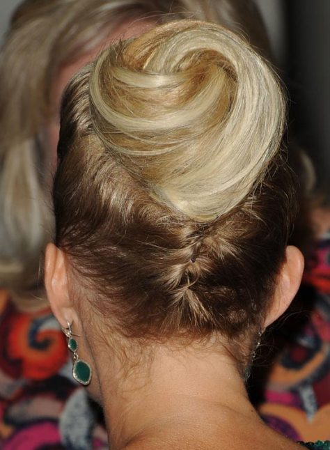 Upside Down Braid with Spiral Bun