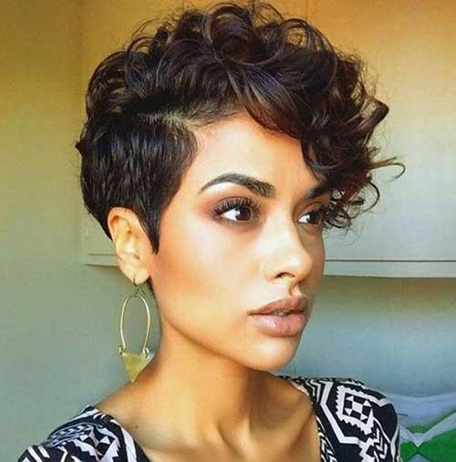 Curly Hair Pixie Cut