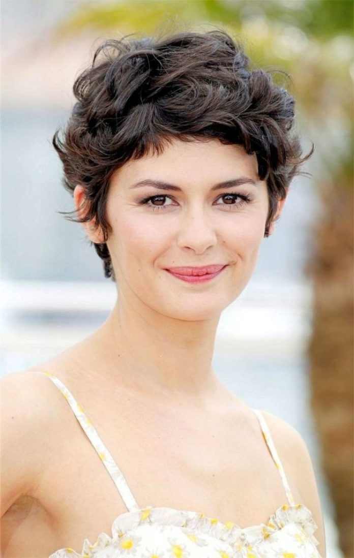 Chopped Brunette Curly Pixie Hair