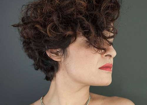 Asymmetrical Short Curly Hairstyle