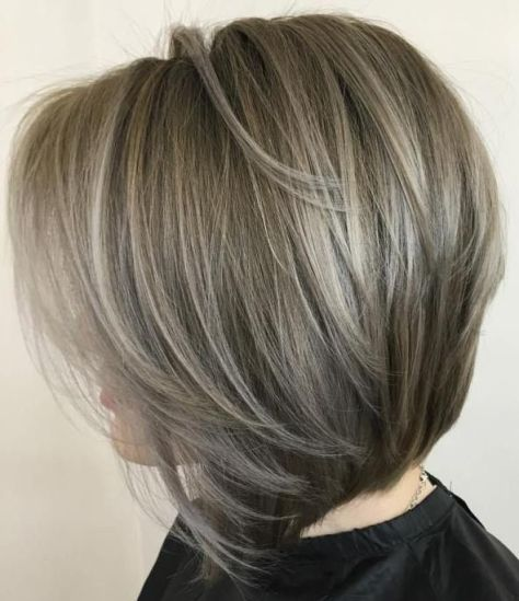 Grey Bob with Layers