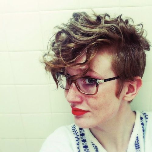 Golden Bangs and Tapered Sides