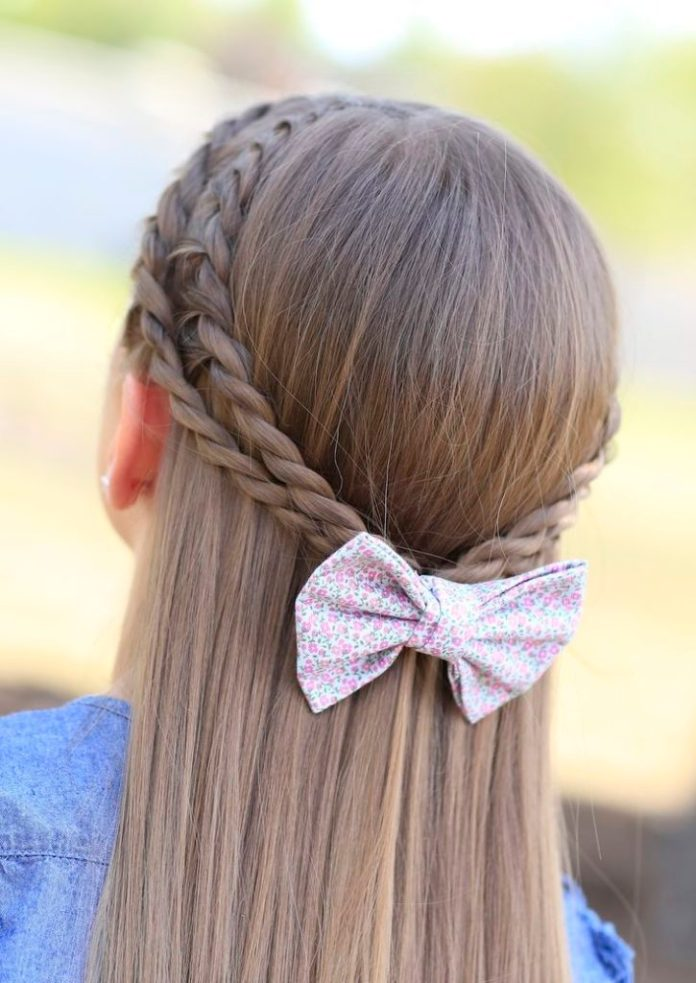 Braided Crown with Bow