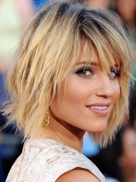 Choppy Layered Bob with Wavy Hair