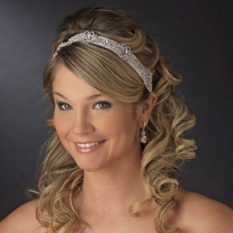 Half Up Wedding Hairstyle with Headband