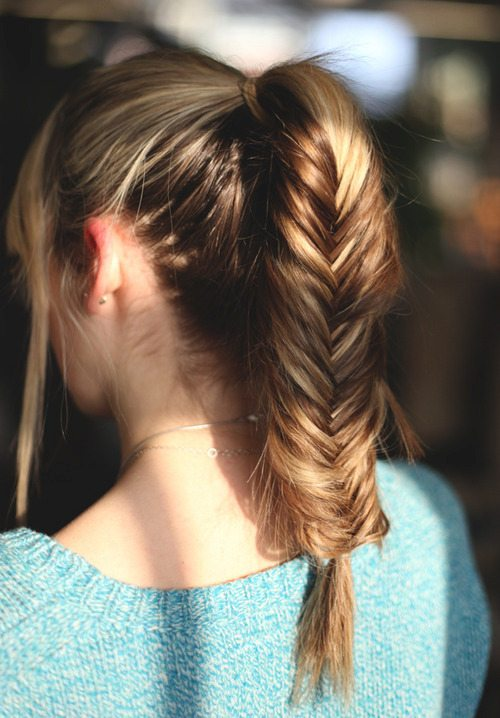 High Pony with Fishtail