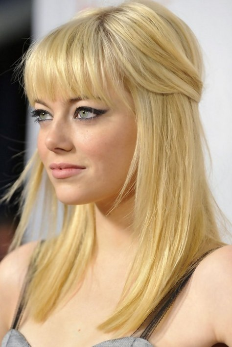 Medium Blonde Hair with Bangs