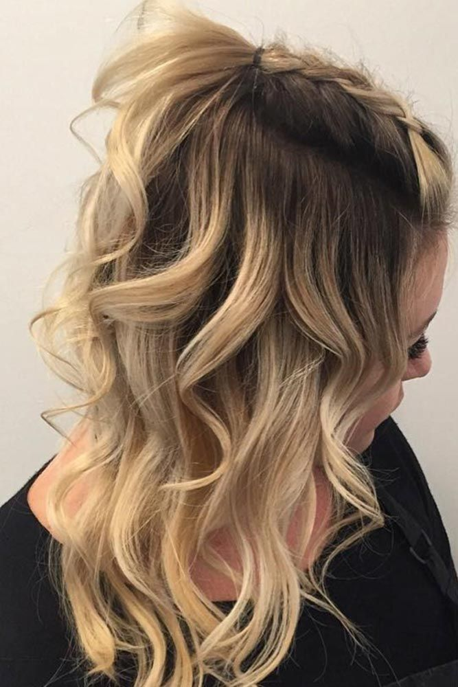 Top Braid with Curls