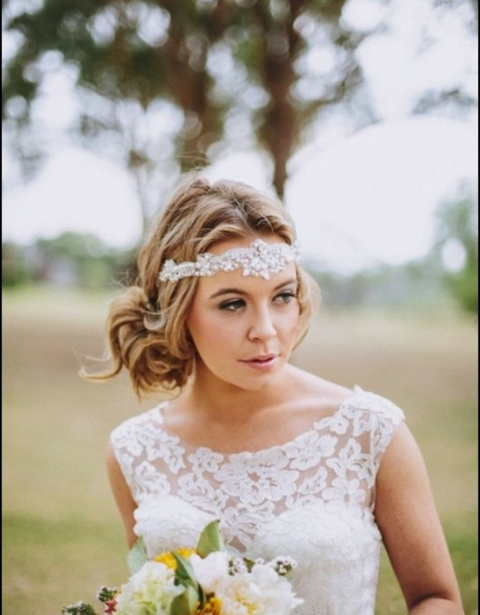25 Most Coolest Wedding Hairstyles with Headband ... - photo #7