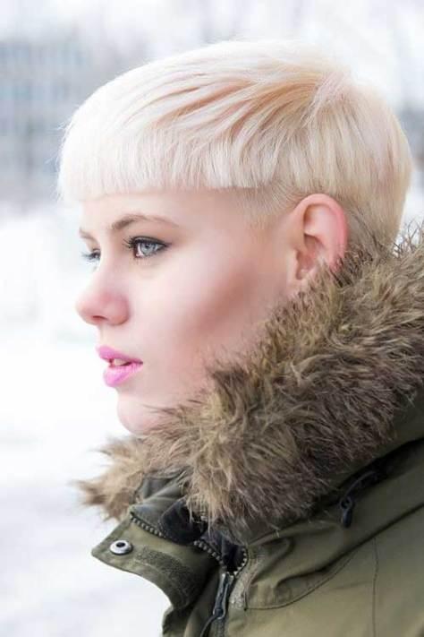 Short Blunt Blonde Pixie