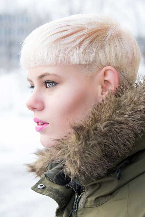 Short Blunt Blonde Pixie