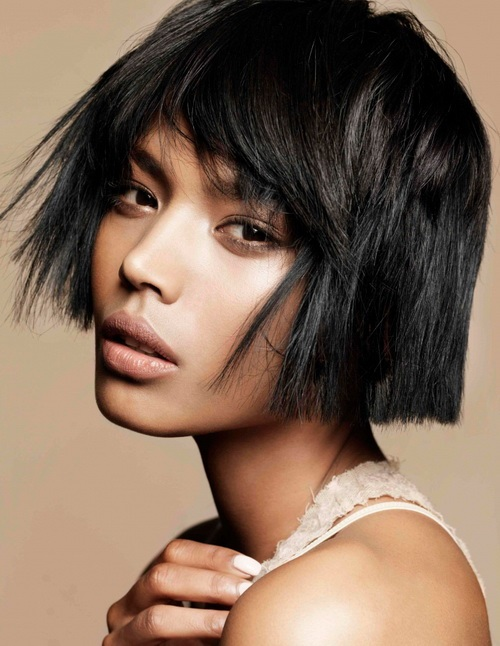 Blunt Bob with Messy Bangs