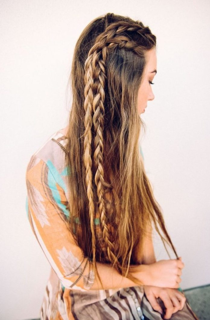 Double Side Braids for Long Hair