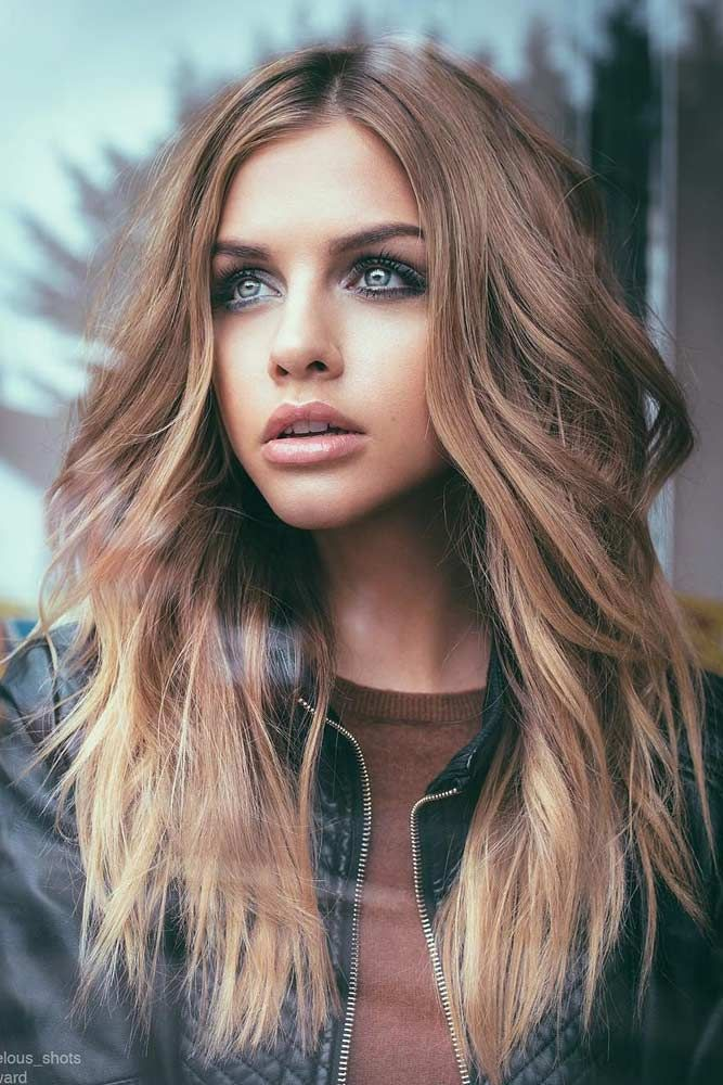 Middle Parted Ombre Long Hair