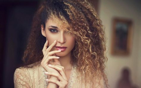 Ombre Long Curly Hairstyle