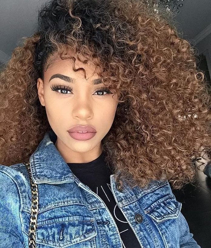 Super Tight Curls With Nice Ombre