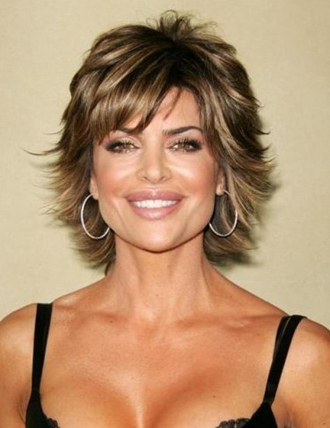 Layered Short Hair with Highlights