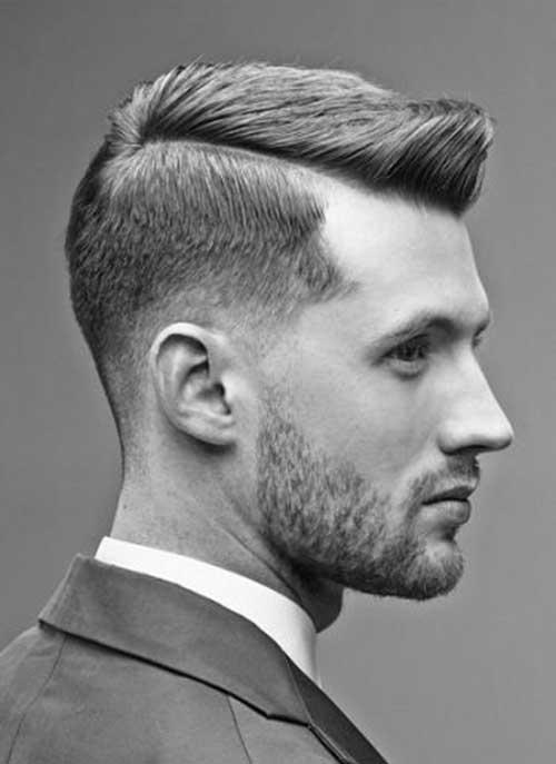 Side Part Pompadour Hair