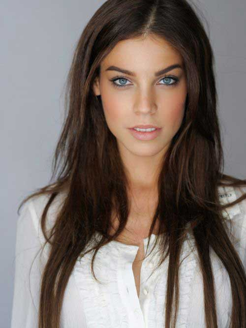 Long Layered Hairstyle for Brunette Hair