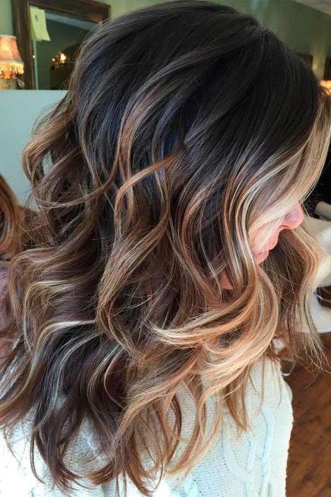 Medium Length Hair with Caramel Balayage