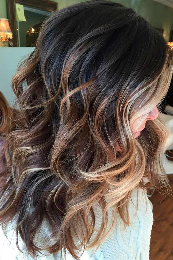 Medium Length Hair with Caramel Balayage
