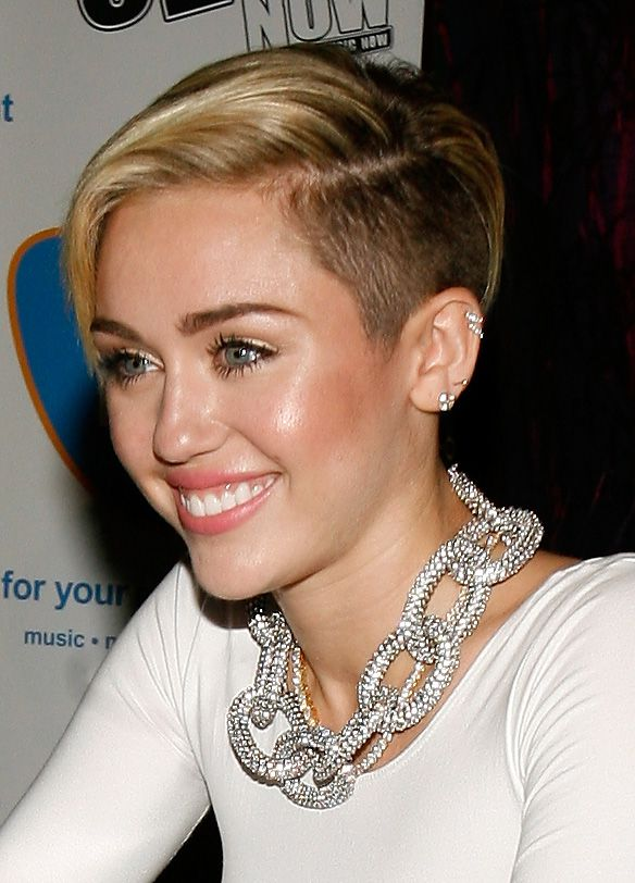 Short Blonde Shaved Hairstyle