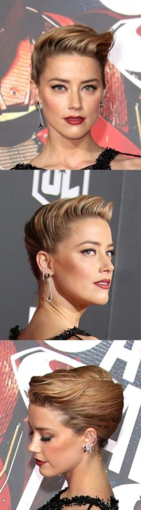 Long Wavy Blonde Updo Hairstyle