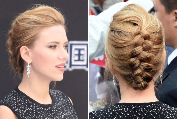 Reverse French Braid Wedding Hairstyle