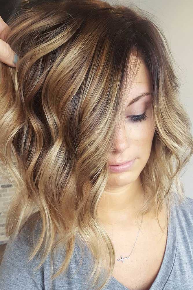 Highlighted Light Brown Hair with Waves