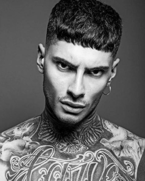 Short Haircut for Men with Blunt Fringe