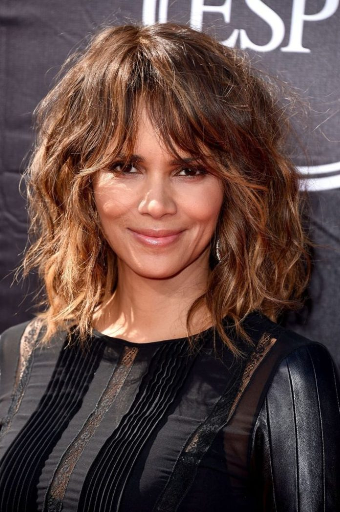 Beach Wavy Hair with Tousled Bangs