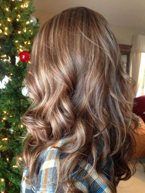 Caramel Highlights on Blonde Hair