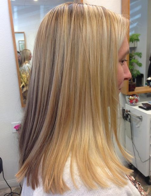 Edgy Medium Blonde Straight Haircut
