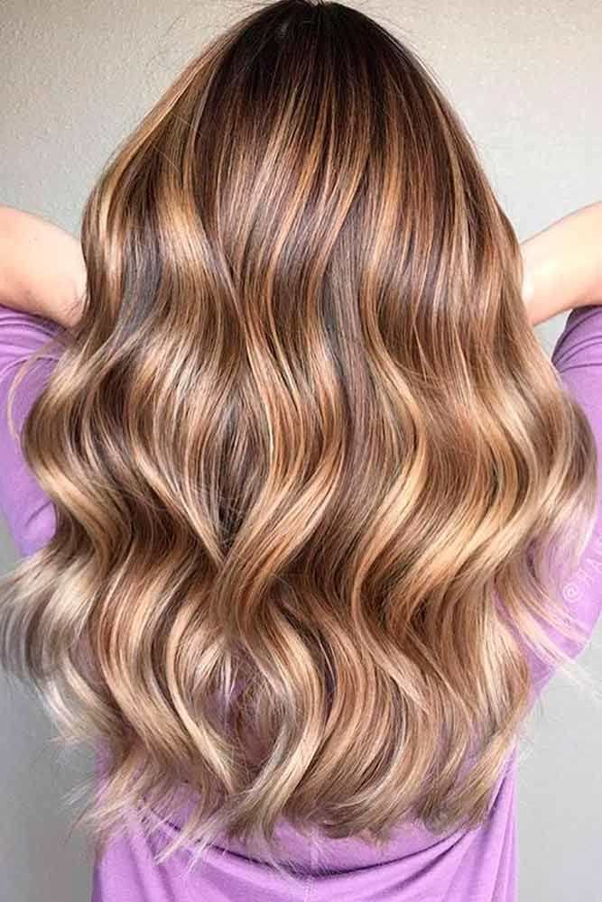 Light Brown Sombre Wavy Hair
