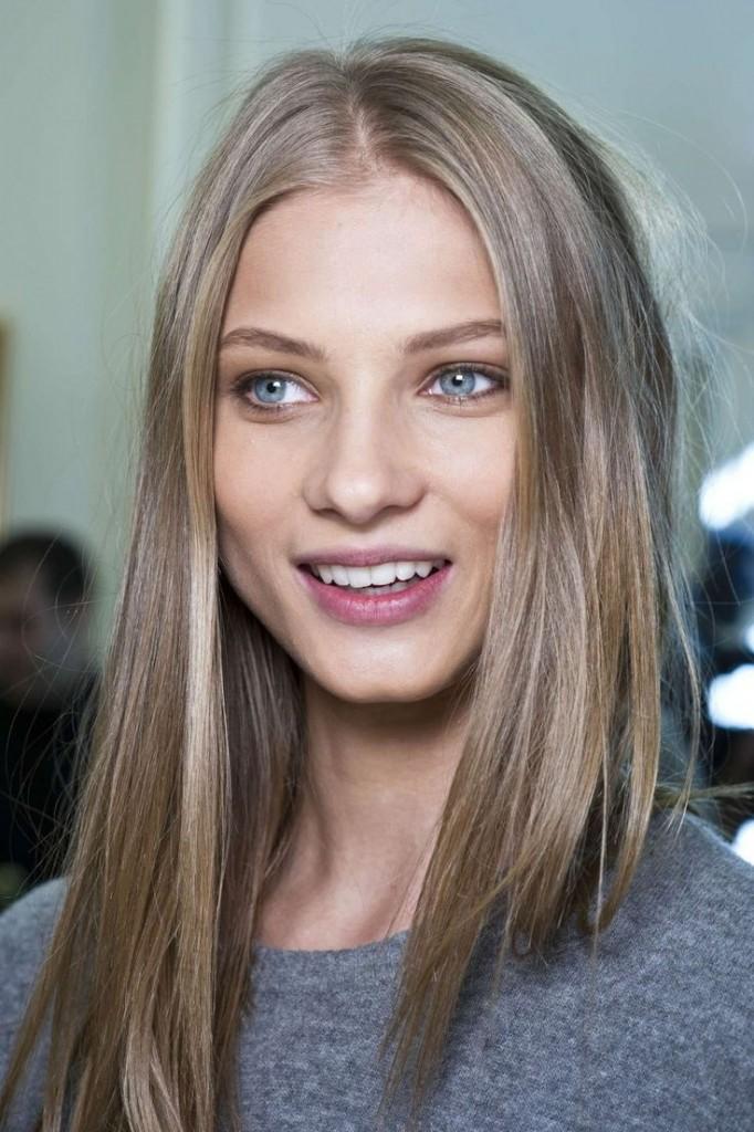 Light Ash Brown Straight Hair