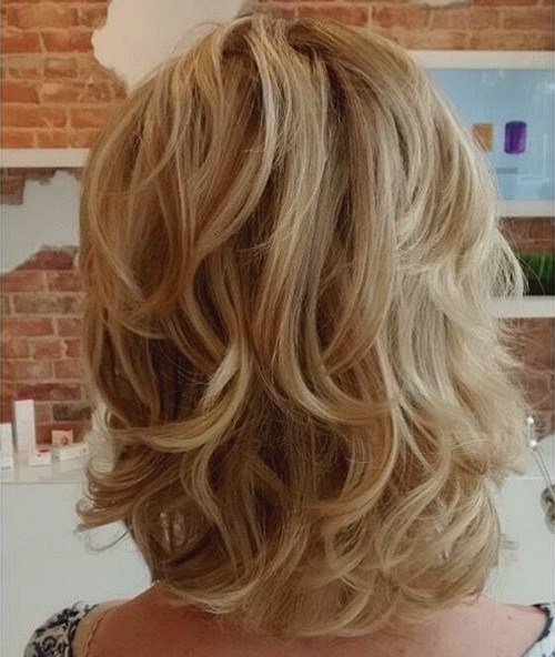 Layered Blonde Shaggy Hair