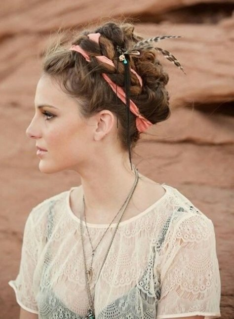 Messy Bohemian Updo Hairstyle