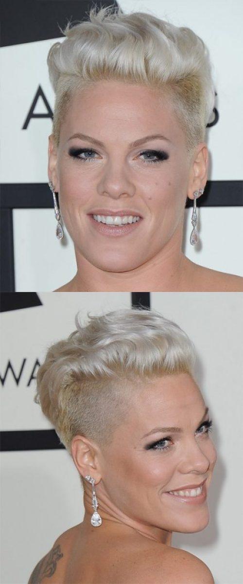 Platinum Blonde Undercut Short Hair